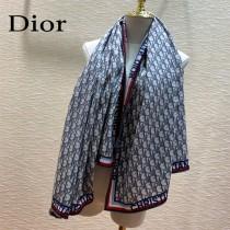 Dior老花經典字母老花羊絨圍巾方巾