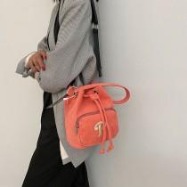 韩国潮牌NY男女灯芯绒水桶包运动时尚斜挎包拎包21年秋季新品