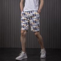 欧洲站男士短裤休闲速干宽松沙滩裤精神小伙五分裤网红同款大裤衩