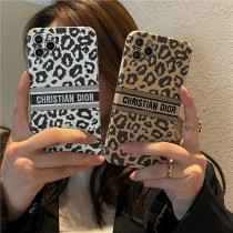 DIOR刺繡奢華豹紋1211ProMax蘋果XXSXR手機殼iPhone7情侶8plus軟