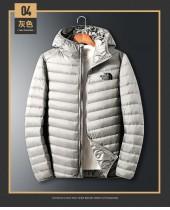 TNF 北面羽絨服男士短款輕薄2021冬季保暖白鴨絨外套連帽